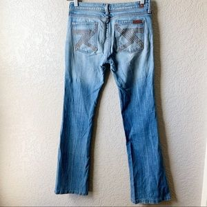 7 For All Mankind Flynt medium wash wide leg jeans